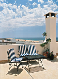 Dachterrasse in Conil